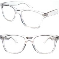 383dc2c2cd Product Image 2 Pairs Transparent Neon Color Deluxe Reading Glasses -  Comfortable Stylish Simple Readers Rx Magnification