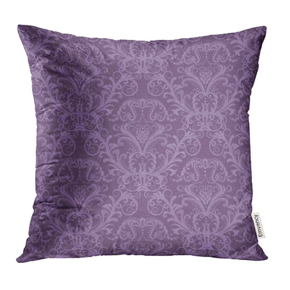 Ywota Pink Damask Purple Floral Vintage Classy Lavender Luxury Victorian Wall Ornate Pillow Cases Cushion Cover 16x16 Inch Walmart Com Walmart Com