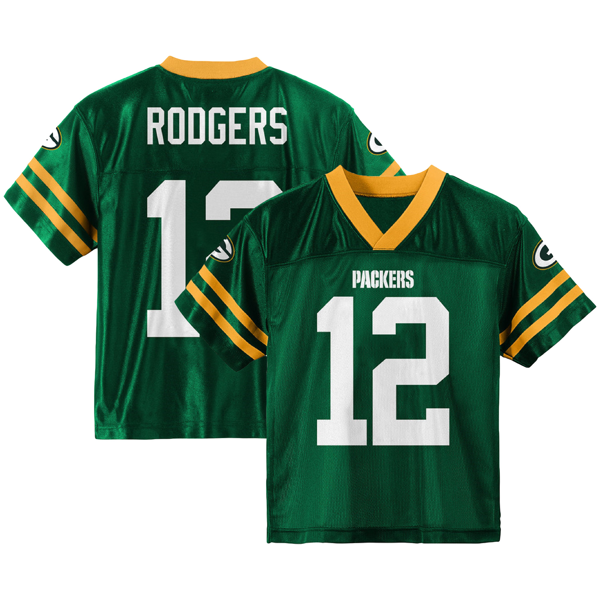 Youth Aaron Rodgers Green Green Bay Packers Team Color Jersey