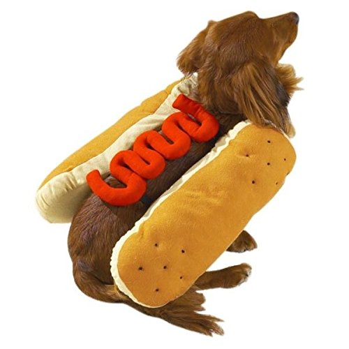 HOT DOG COSTUMES for DOGS Mustard and/or Ketchup Available in Three Sizes ! (Large Ketchup)
