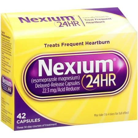 3 Pack Nexium 24HR Delayed-Release Acid Reducer 42 Capsules
