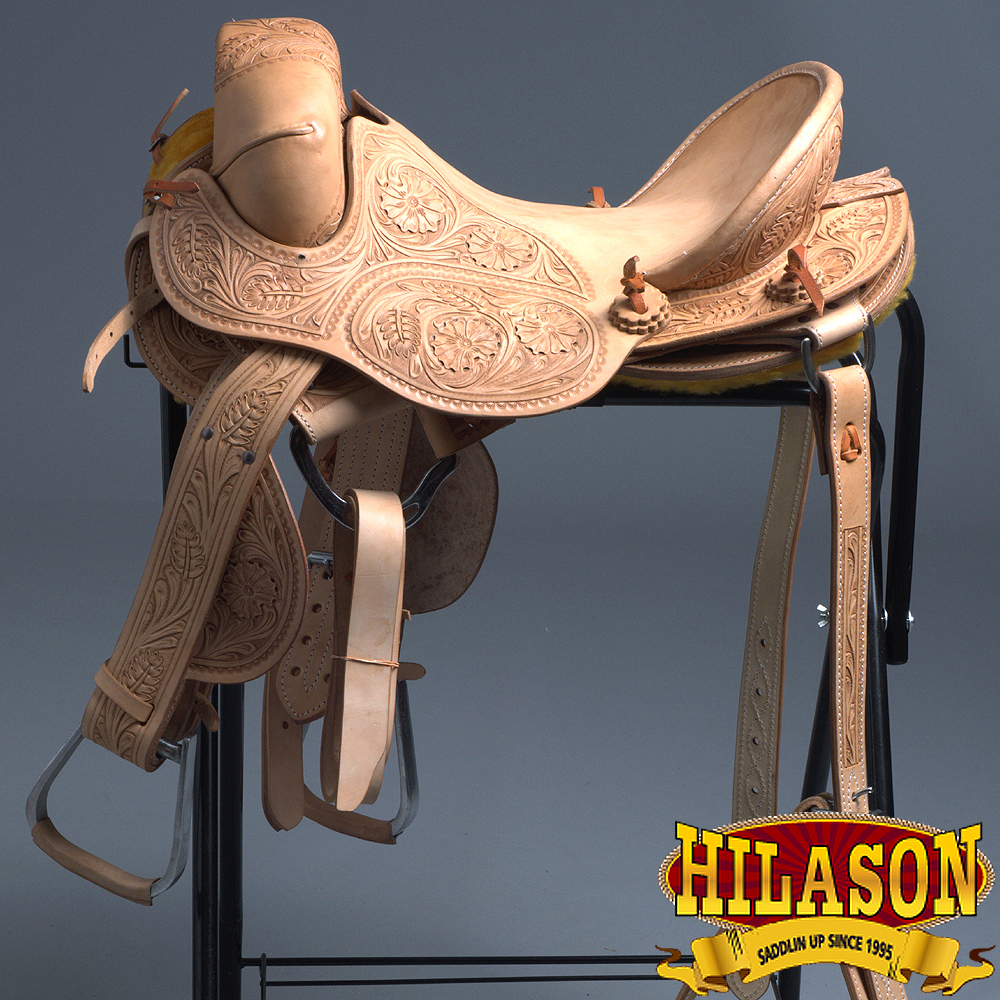 "15"" HILASON CLASSIC SERIES HAND-MADE RODEO BRONC RIDING SADDLE"