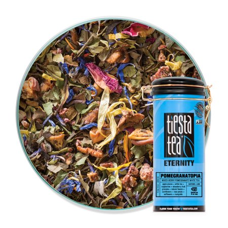 Tiesta Tea Eternity, Pomegranatopia, Loose Leaf White Tea Blend, Low Caffeine, 3.5 Ounce Tin Loose White Tea