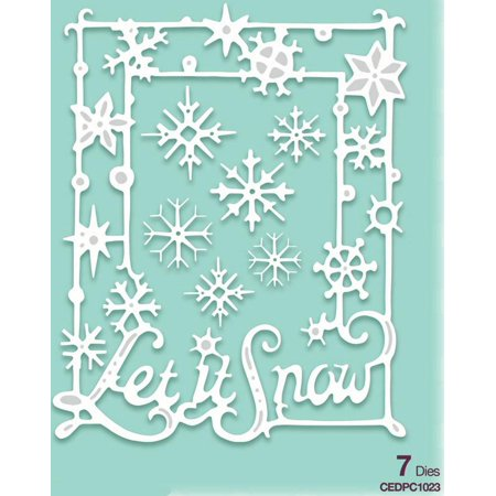 Creative Expressions Die Paper Cuts Collection - Let It Snow Frame