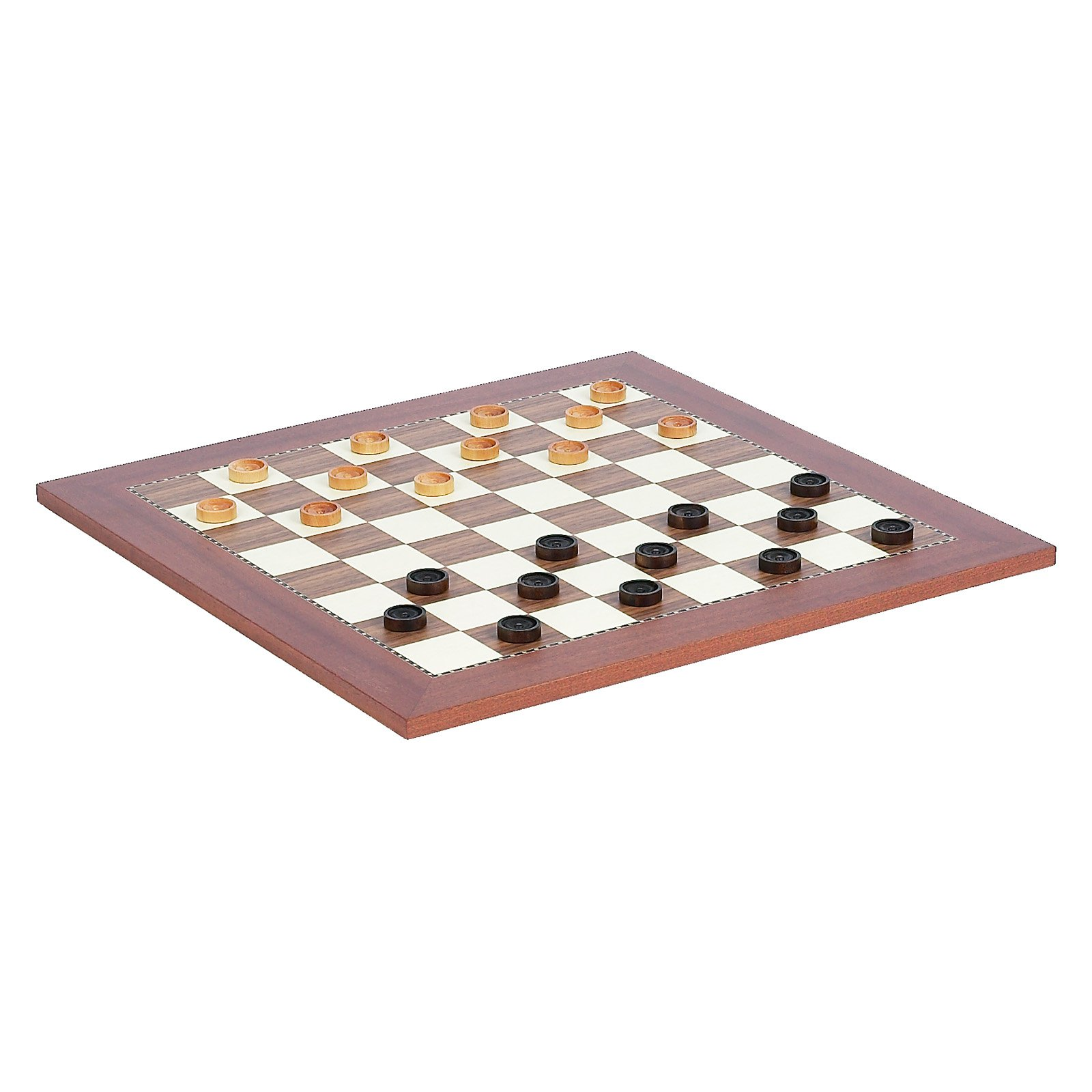 Champion Chess Board & Wooden Checkers by Cambor Games