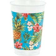 Aloha 16oz Plastic Cups, 8 pk by CREATIVE CONVERTING