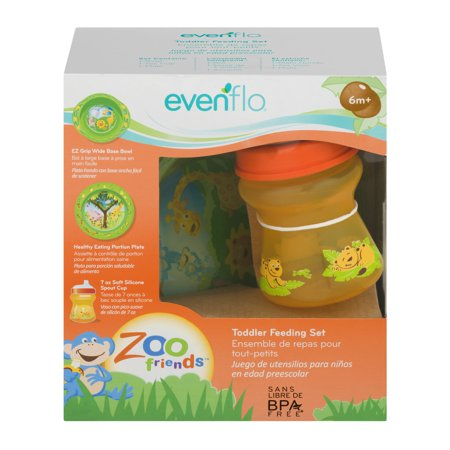 Evenflo Zoo Friends Toddler Feeding Set 6m+, 1.0 CT