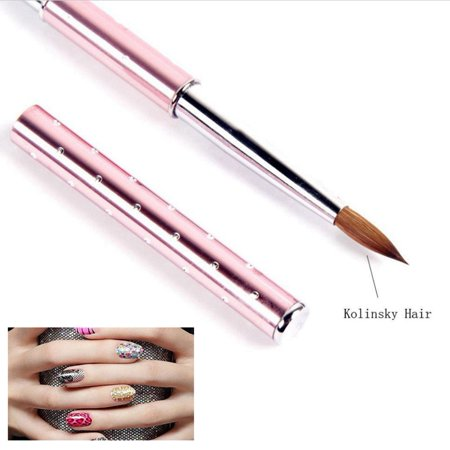 1PC Kolinsky Hair Pencil 2#6#8#10# Nail Art Acrylic Brush Metal Handle with Diamond New](Purple Halloween Nail Art)