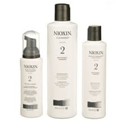 Nioxin Hair System Kit 2 Kit - Cleanser 10 Oz, Scalp Therapy Conditioner 5 Oz and Treatment 3.3 Oz