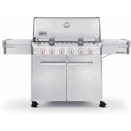 Weber Summit S-620 LP Gas Grill, Stainless Steel by