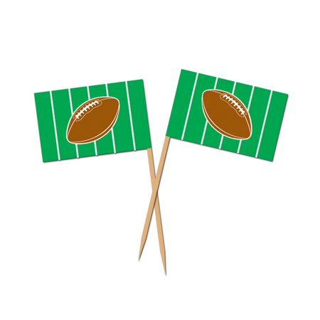 Football Appetizer Cake Cupcakes Food Picks Box of 50 - Super Bowl NFL Party](Halloween Party Food Appetizers)
