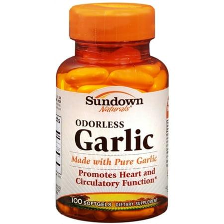 Sundown Naturals Ail inodore gélules 100 gélules (Paquet de 3)