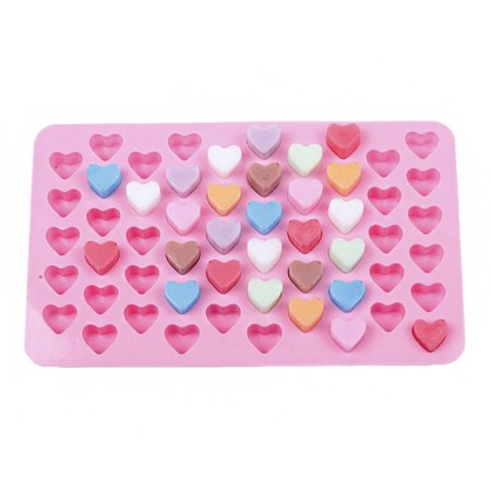 Heart Chocolate Mould (Jeobest 1PC Silicone Cake Decorating Mold - Silicone Chocolate Mold - Silicone Candy Mold Heart - 55 Holes Non-stick Heart Shape Silicone Chocolate Cake Mold Silicone Chocolate Sugar Baking Mold MZ)