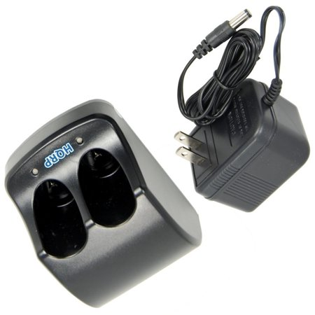 HQRP Dual Battery Charger for Black & Decker 3.6V Versapak VP760 Type 1, VP800 Type 1, VP810 Type 1, VP820K Type 1, VP820T Type 1, VP825K Type 1 Power Tools + HQRP Coaster