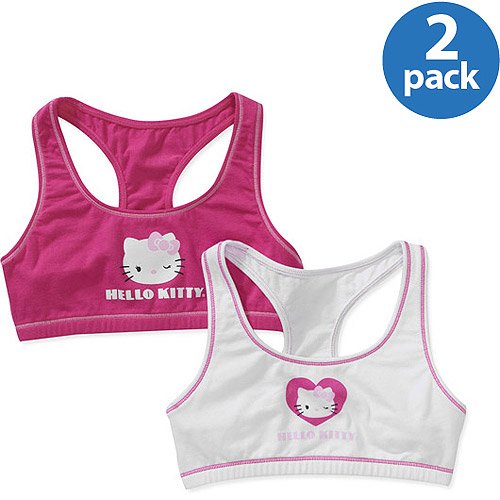 Hello Kitty - Girls Training Bra, 2 Pack - Walmart.com