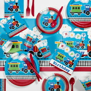 All Aboard Train Birthday Party Supplies Kit for 8 Guests