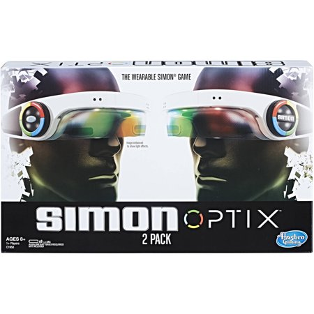 Simon Optix Game - 2 Headsets Included - Wearable Version of a Classic Game - Raise Your Hands in the Correct Color Pattern to Succeed - Play Solo or With Your Friends - Batteries Not Included (Halloween Games To Play)