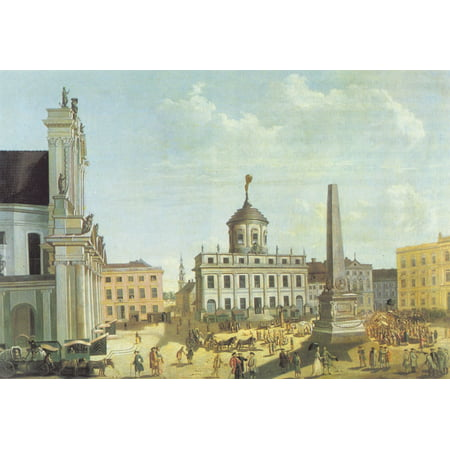 Framed Art for Your Wall Baron, Karl Christian Wilhelm - Potsdam, Alter Markt with town hall 10 x 13 Frame 12 Piece Altered Art