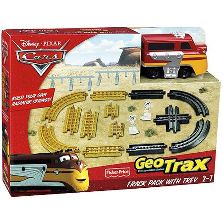 Geotrax Lights - Fisher-Price GeoTrax Pixar Cars Track Pack with Trevor