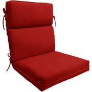 Better Homes And Gardens Red 1 Piece Dining Chair Cushion Walmart Com Walmart Com