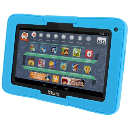 Kurio Xtreme 96405 Android OS Parental Content Conrol Kids Tablet, Black with Blue Bumper (Kurio Touch 4s Android Black Handheld Tablet)