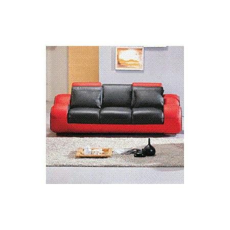 Hokku Designs Hematite Leather Sofa Walmart Com
