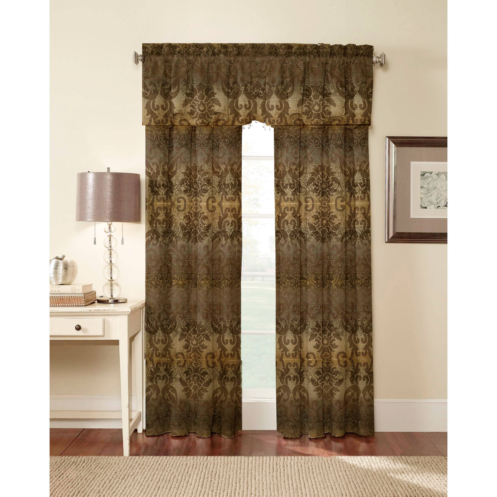 CHF & You Elise Lined Tailored Curtain Panel / Valance