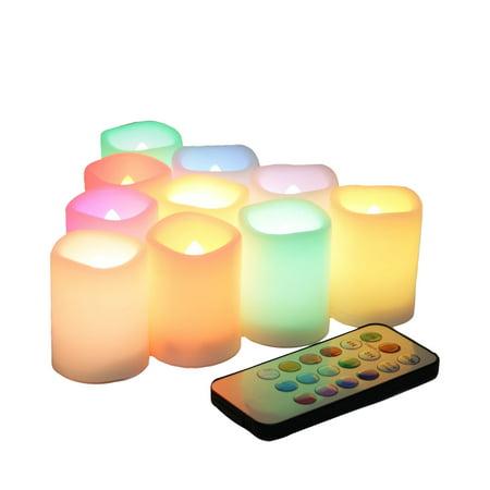 Flameless Votive Candles Beauteous EcoGecko Set Of 60 MultiColor Flameless LED Votive Candles With