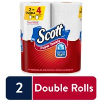 Scott Disposable Paper Towels, Choose-A-Sheet, White, 2 Double Rolls, 110 Sheets per Roll (220 Sheets Total)