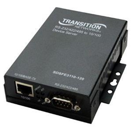 Transition Networks Networks 1-Port Device Server SDSFE3110-120