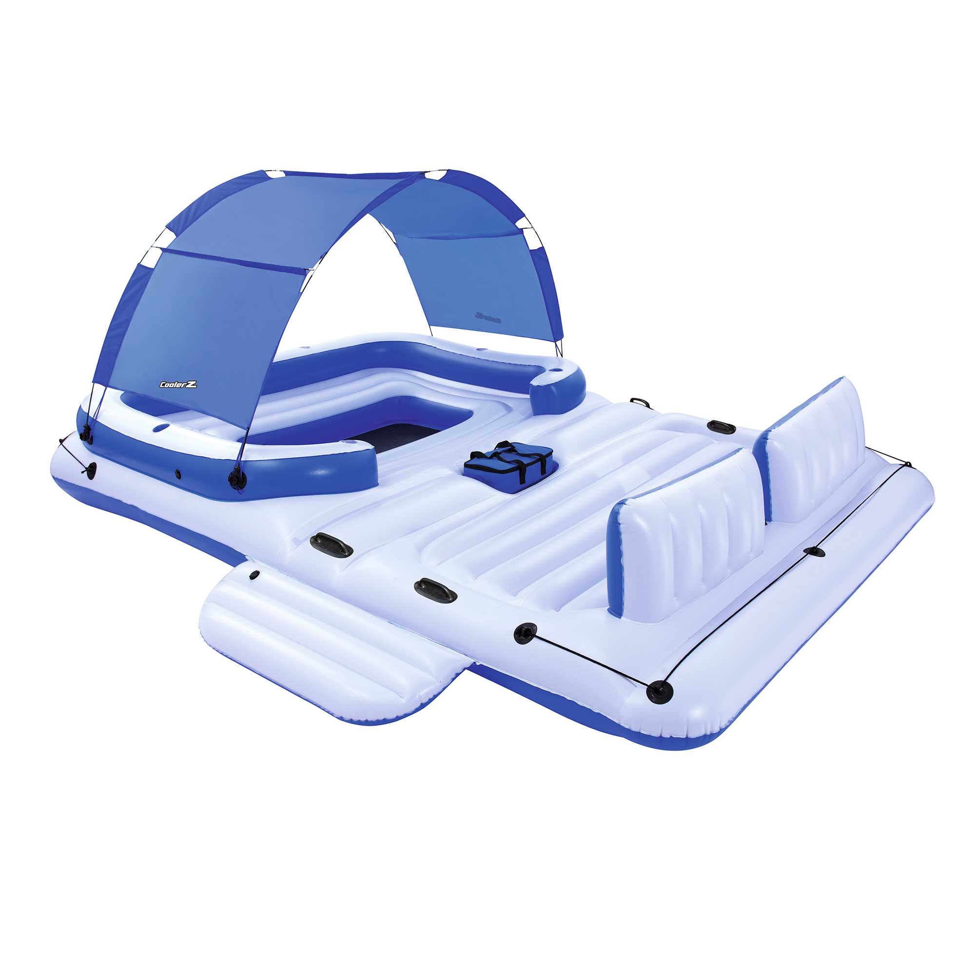 Bestway CoolerZ Tropical Breeze 6 Person Floating Island Pool Lake Raft Lounge by Bestway