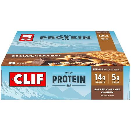 CLIF® Whey Protein Salted Caramel Cashew Bar 8 ct Box - Halloween Caramel Apple Bites