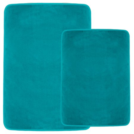 Set Of 2 Clara Clark Bath Mat Bathroom Rug Absorbent
