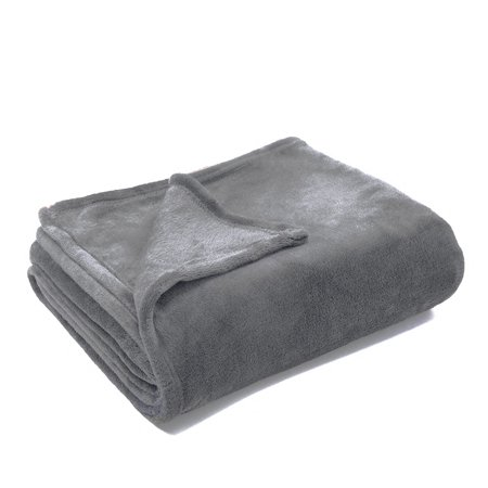 Soft Solid Color Coral Fleece Blanket Warm Sofa Cover Queen Size Fluffy Flannel Mink (Warm Mink)