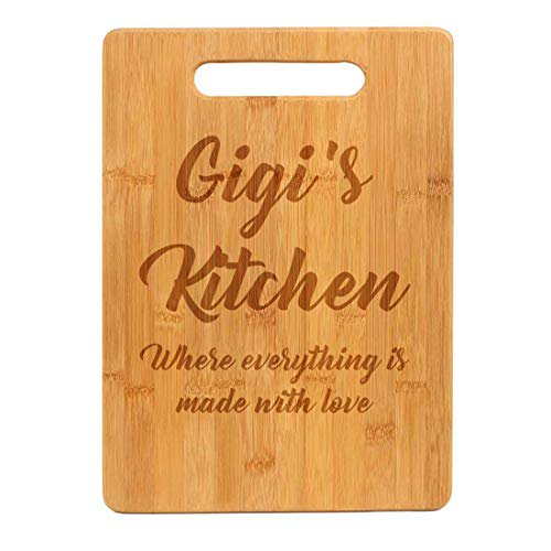 Bamboo Wood Cutting Board Gigi S Kitchen Where Everything Is Made With Love Walmart Com Walmart Com