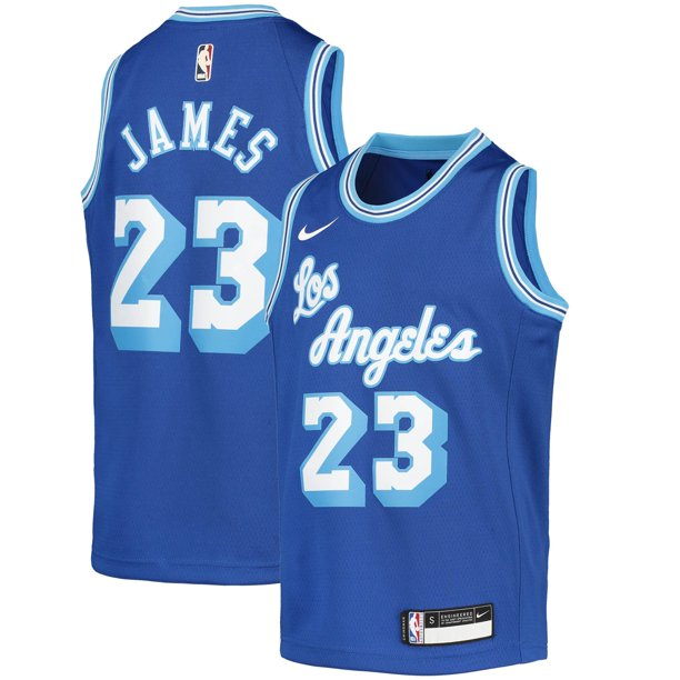 LeBron James Los Angeles Lakers Nike Youth 2020/21 Jersey - Classic Edition - Blue