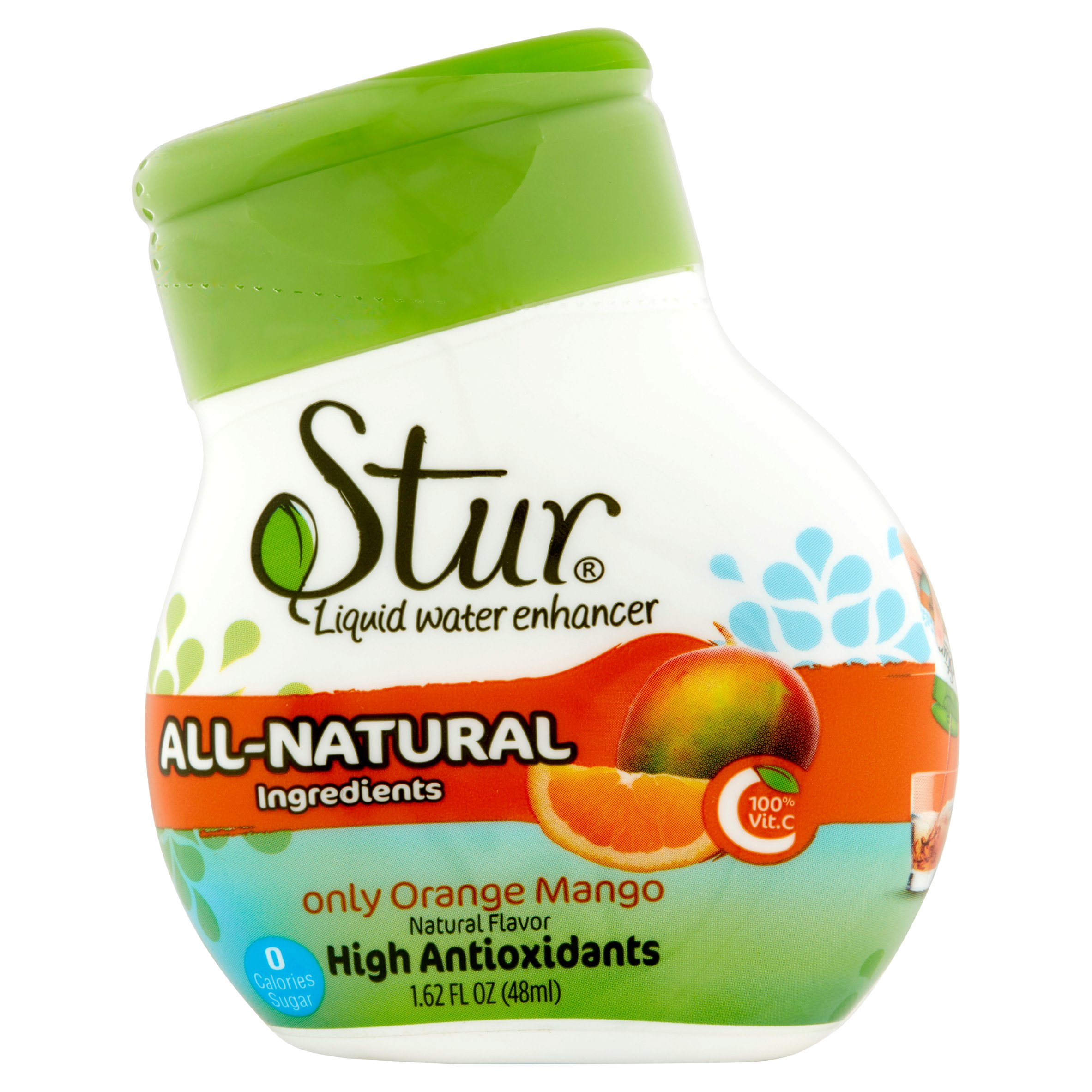 Stur Only Orange Mango Liquid Water Enhancer, 1.62 fl oz, 6 pack