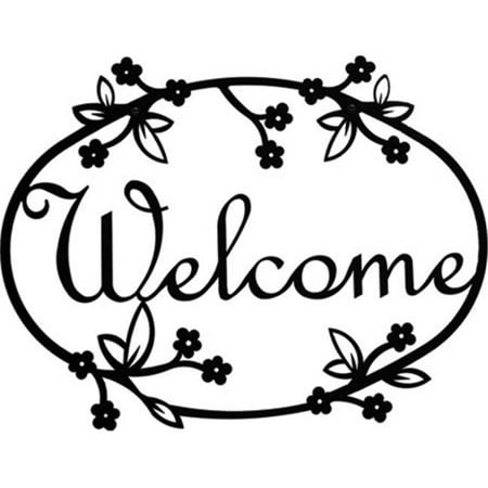 Welcome Baby Yard Signs (Village Wrought Iron WEL-164 Medium Floral Welcome)