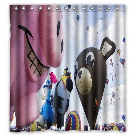 DEYOU Albuquerque International Balloon Fiesta Shower Curtain Polyester Fabric Bathroom Size 66x72 Inch