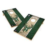 Milwaukee Bucks 2' x 3' Solid Wood Cornhole Board Tailgate Toss Set