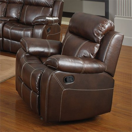 Coaster Gliding Recliner in Faux Leather,