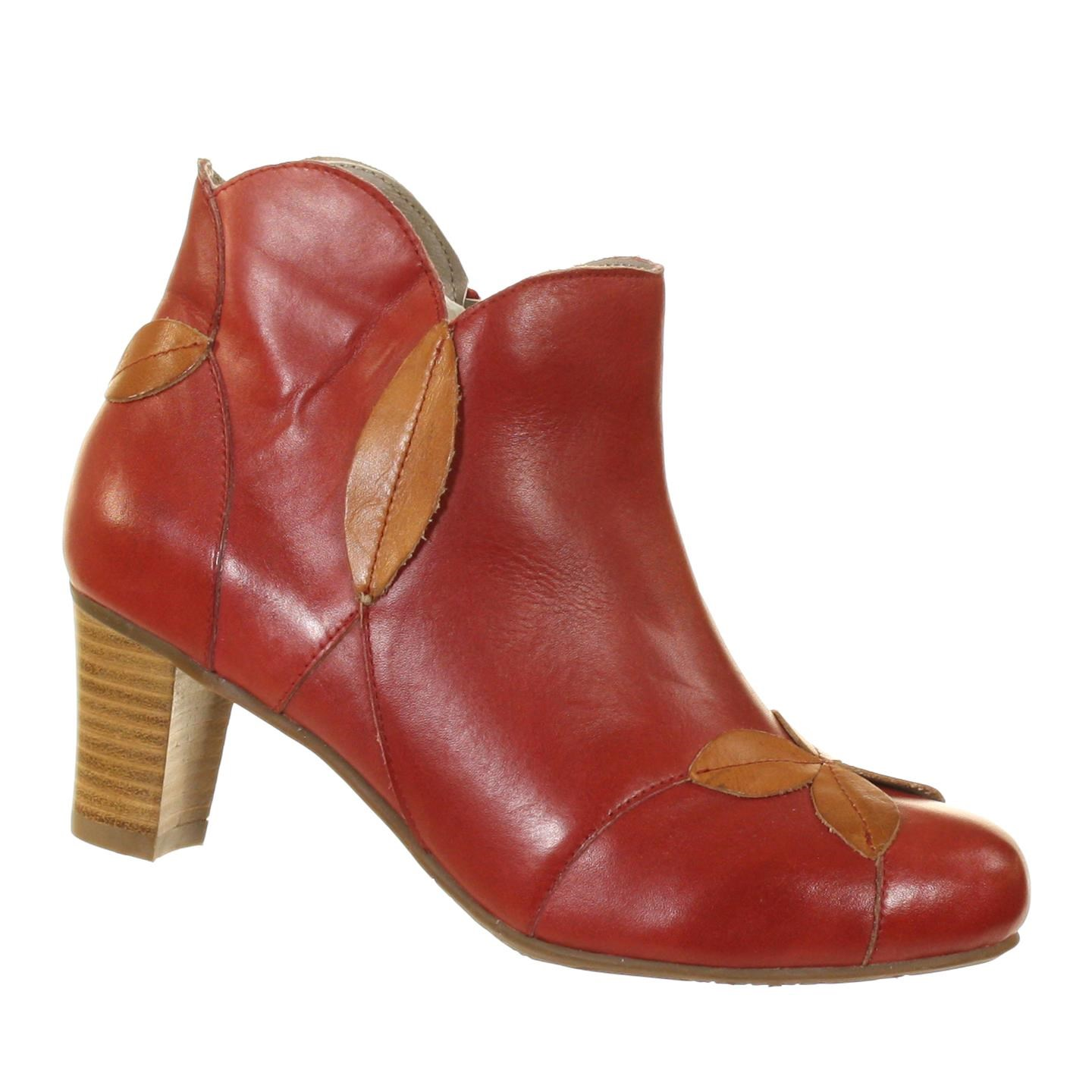 Spring Step L'Artiste Patisserie Red Camel Womens Display Model Ankle Boots 37 (US: 6.5-7) by Spring Step