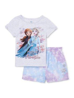 Frozen 2 Toddler Girl Short Sleeve T-shirt & Shorts, 2-Pc outfit set
