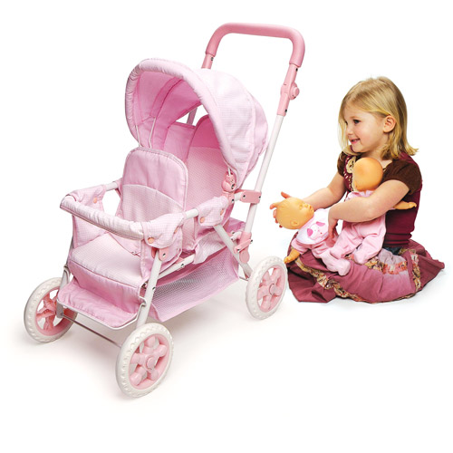 "Badger Basket Double Front-to-Back Doll Stroller - Fits Most 18"" Dolls & My Life As"