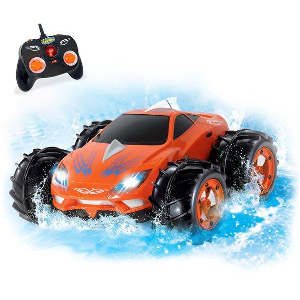 Kidirace Amphibious Remote Control Car Orange 360 Degree Spin Aqua Stunt Rc Car Walmart Com Walmart Com