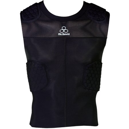 McDavid Classic Logo 7870 Y CL Hex Pad Mesh Sleeveless 5 Pad Shirt Black Youth - 5 Pad Sleeveless