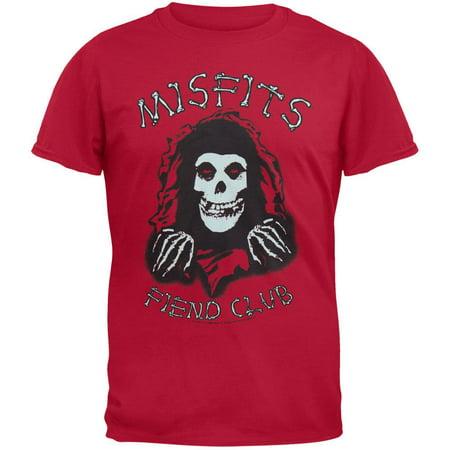 Misfits - Fiend Club Bones Red T-Shirt - Medium (Misfits Fiend Mask)