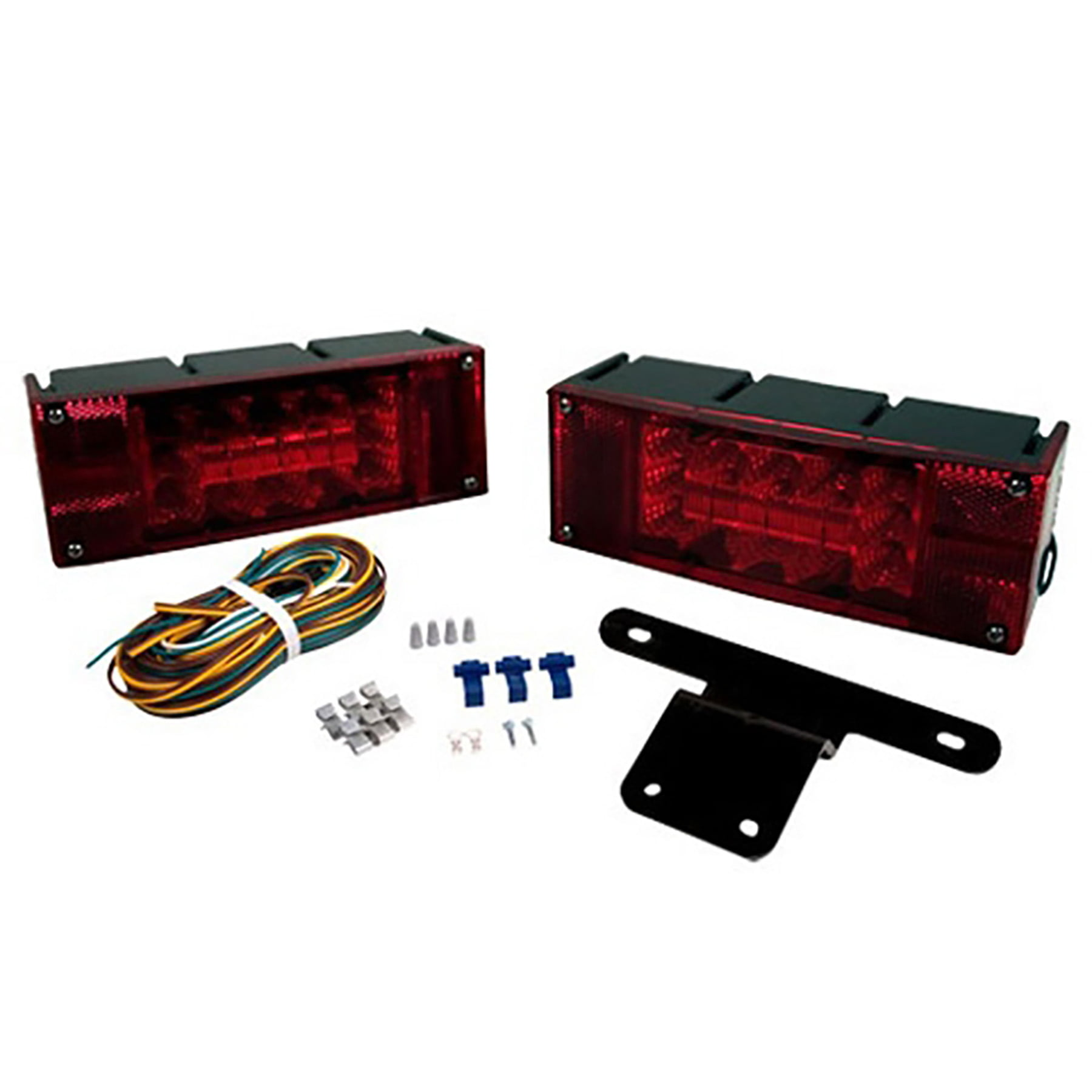 Blazer C7298TM LED Rectangular Low Profile Submersible Stop//Tail//Turn Light Right Hand Side Red