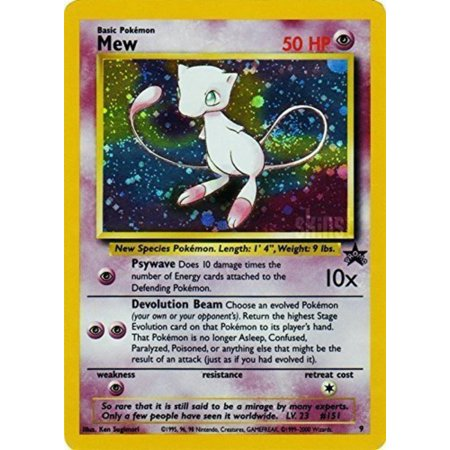 Pokemon - Mew (9) - Wizards Black Star Promos, A single individual card from the Pokemon trading and collectible card game (TCG/CCG). By Pokmon