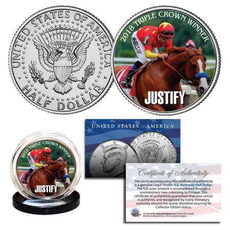 JUSTIFY TRIPLE CROWN WINNER Race Horse Belmont Stakes 2018 JFK Half Dollar Coin](Race Horse Accessories)